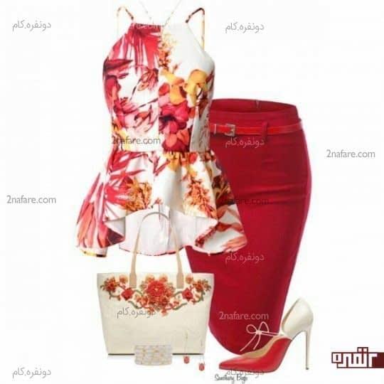 سفید و قرمز
