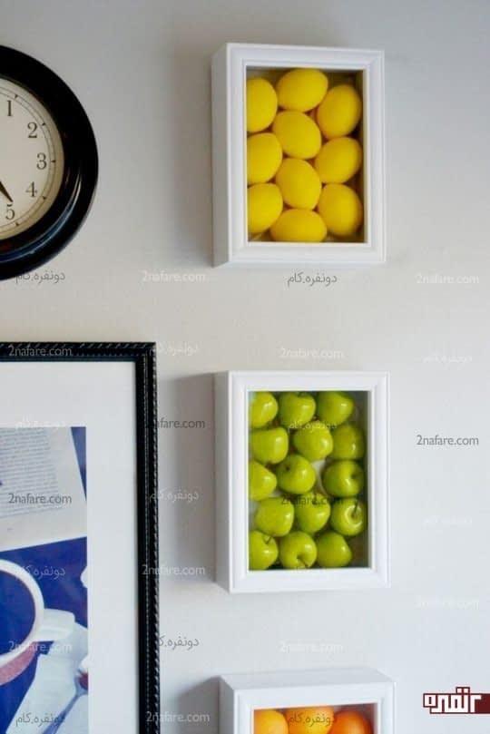 قاب هایی رنگارنگ از میوه های مصنوعی و زیبا