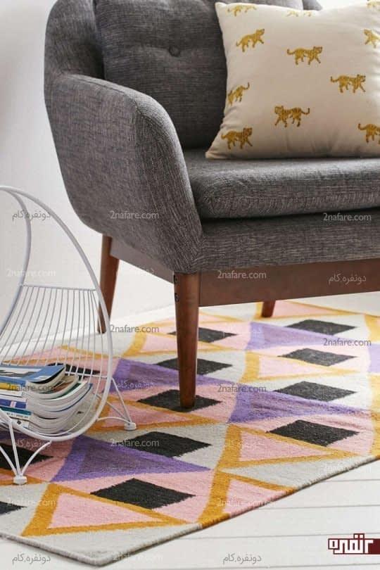 مبلمان و فرش های رنگی