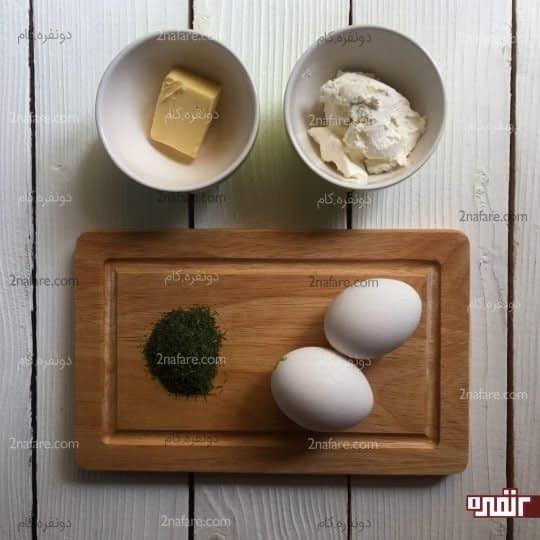 مواد لازم برای تهیه املت پنیر