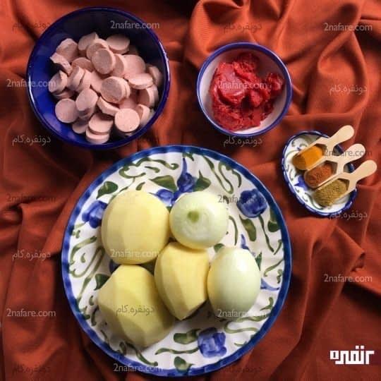 مواد لازم برای تهیه سوسیس بندری با طعم کاری