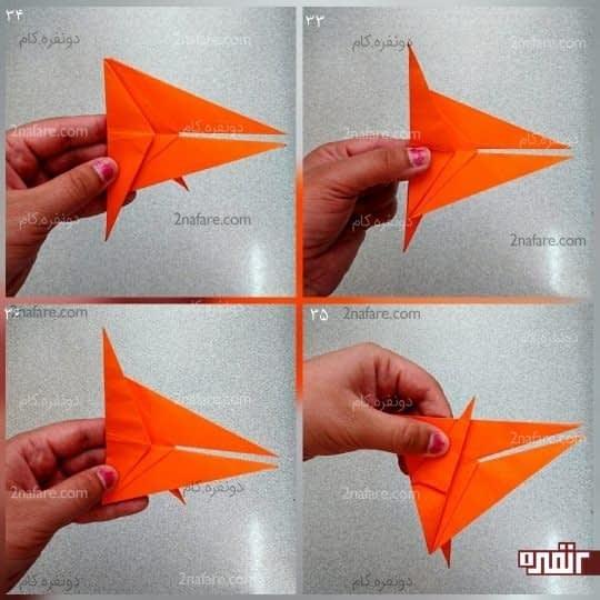 همان طور که در شکل می بینید یک مثلث به سمت پایین است و یک مثلث به سمت بالا