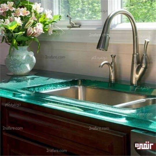 کانتر شیش ای سبز، انتخابی زیبا و خیره کننده