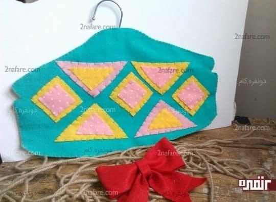 ظرف هفت سین دست ساز کاور لباس نمدی با طرح هندسی • دونفره