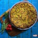 طرز تهیه کوکوی لوبیا سبز مرحله به مرحله