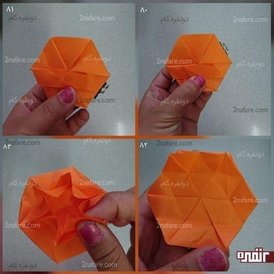 یک شش ضلعی روی کار تشکیل شده و حالا باید هر کدام از ضلع های آن را به مرکز برسانید