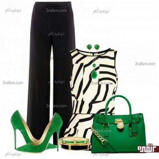ترکیب رنگ سبز