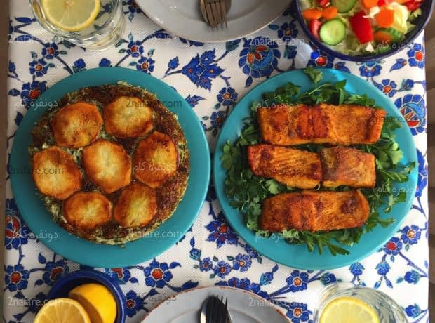 سبزی پلو ماهی