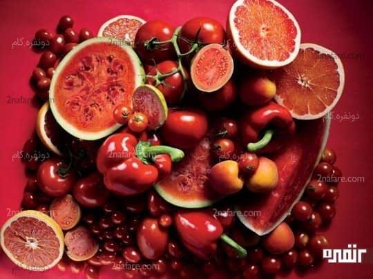 مواد غذایی قرمز رنگ