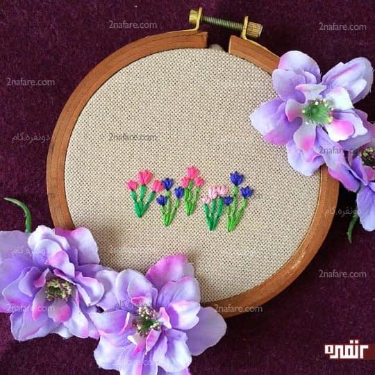 گلدوزی گل لاله