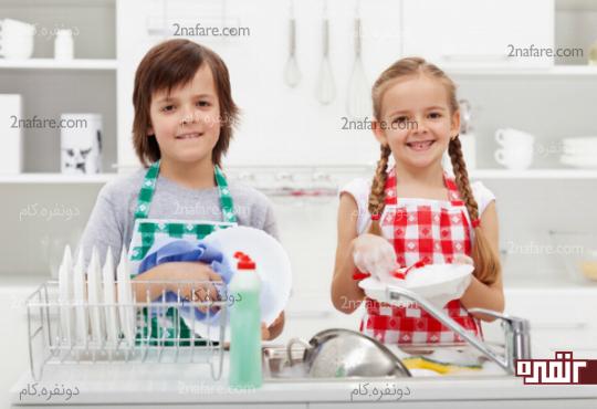 جلوگیری از کار کردن و مشارکت اون ها در کارهای خانه