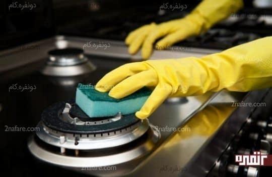 آشپزخانه ای تمیز و مرتب