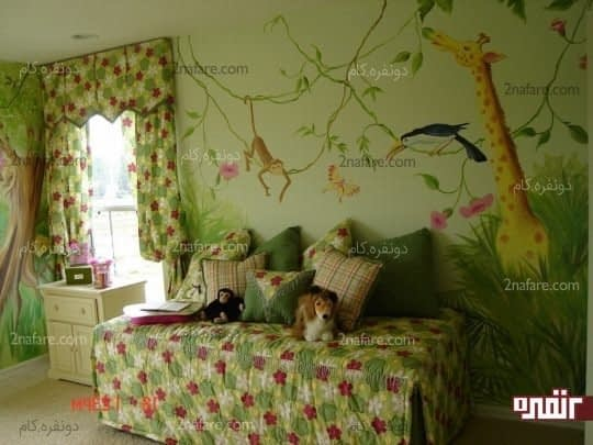 اتاق کودک با دکوراسیون جنگل