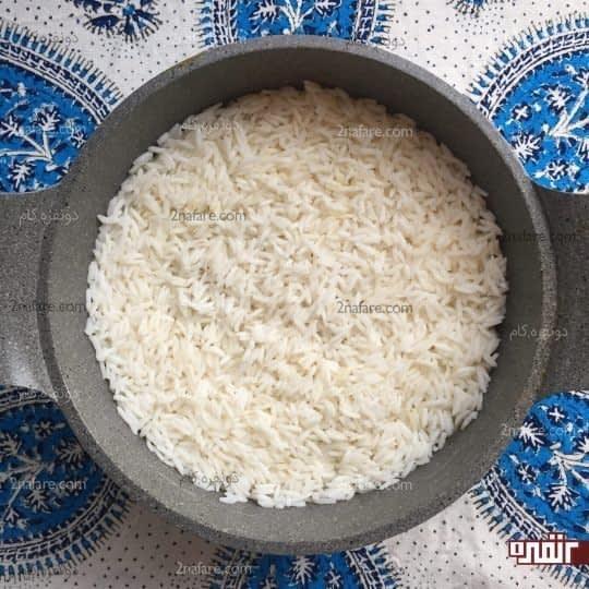 اضافه کردن برنج ساده