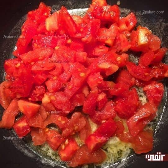 تفت دادن گوجه فرنگی