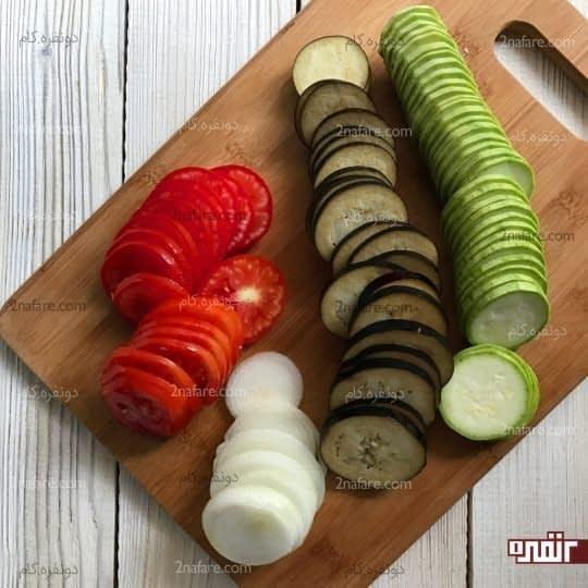 حلقه حلقه کردن سبزیجات