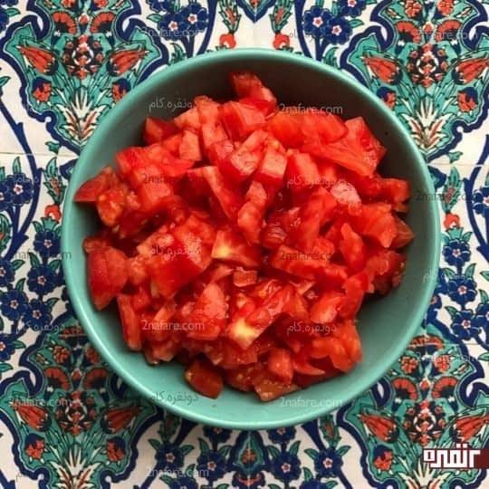 خورد کردن گوجه