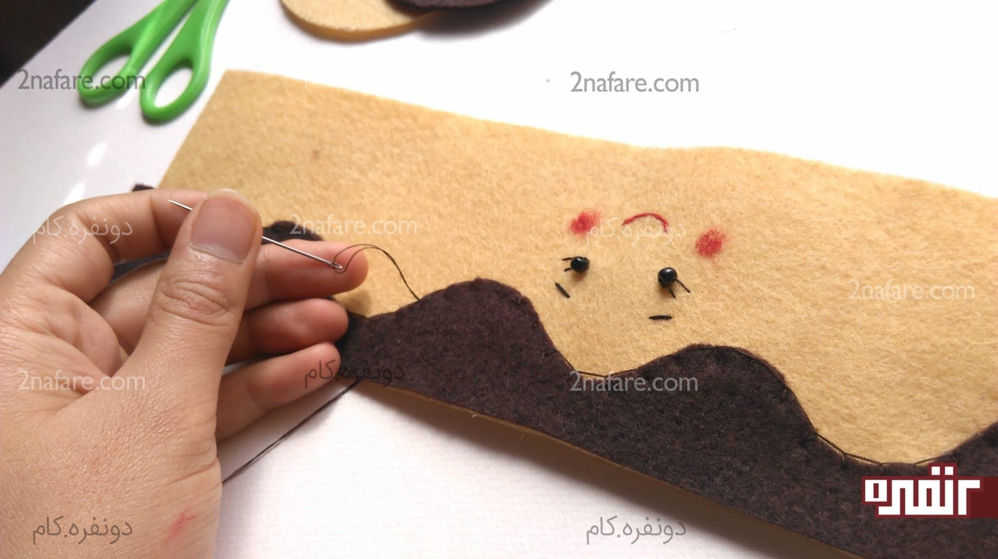 الگو جا مدادی نمدی آموزش ساخت جا سوزنی نمدی طرح عروسک مرحله به مرحله • دونفره