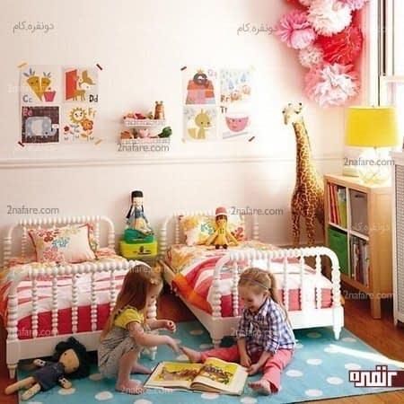 دکوراسیون اتاق کودک به شکل جنگلی اسرارآمیز