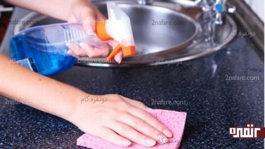 راه حل های ساده برای تمیزی آشپزخانه