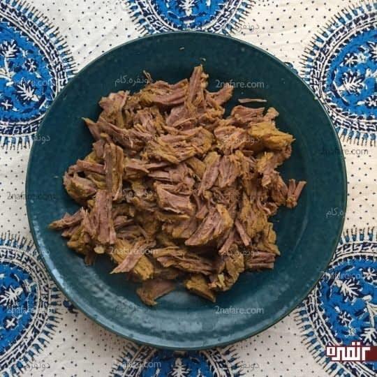 ریش ریش کردن گوشت
