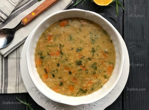 سوپ گندم و ترخون