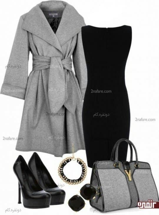 سیاه و خاکستری