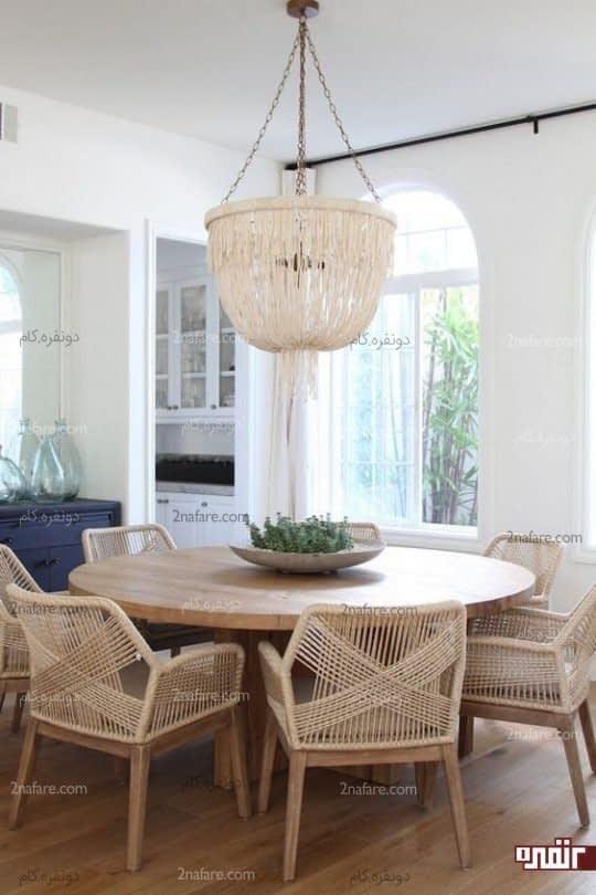 صندلی های حصیری، انتخابی متفاوت برای فضای غذاخوری