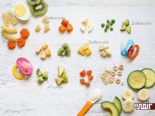 غذاهای انگشتی برای شروع یادگیری استقلال در غذا خوردن کودکان