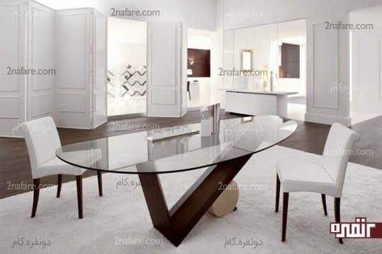 فرم و شکل مناسب میز و صندلی ها مطابق با فضا