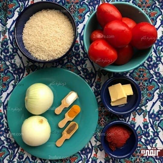 مواد لازم برای تهیه دمی گوجه