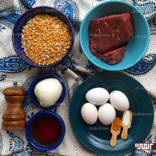 مواد لازم برای تهیه شامی لپه