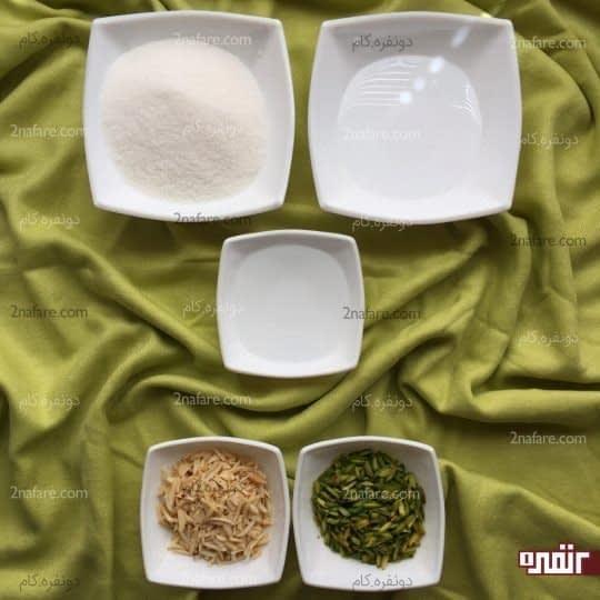 مواد لازم برای شیره و تزیین کاپ کیک