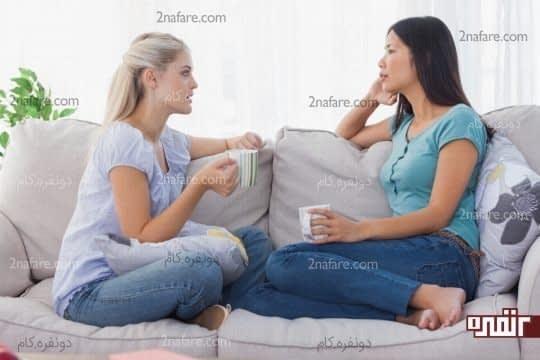 موقع حرف زدن به همدیگه توجه کنید