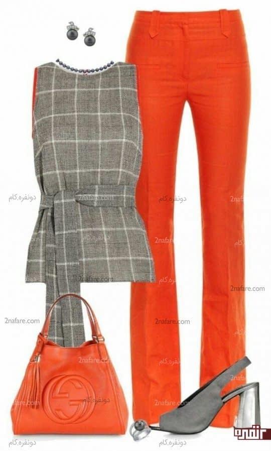 نارنجی و خاکستری