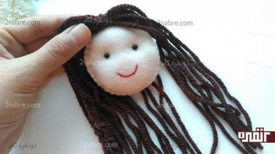 چسباندن موها