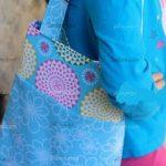 آموزش دوخت کیف پارچه ای دو رنگ