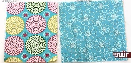 انتخاب پارچه در دو رنگ