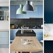 آشپزخانه ای دلنشین با رنگ آبی