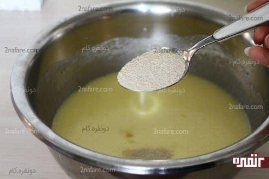 اضافه کردن مایه خمیر فوری