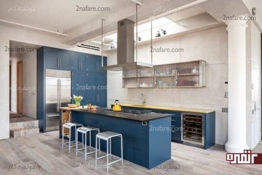 جذاب کردن فضا با ترکیب آبی،نقره ای و زرد