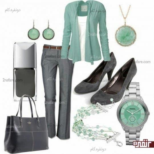خاکستری و سبز