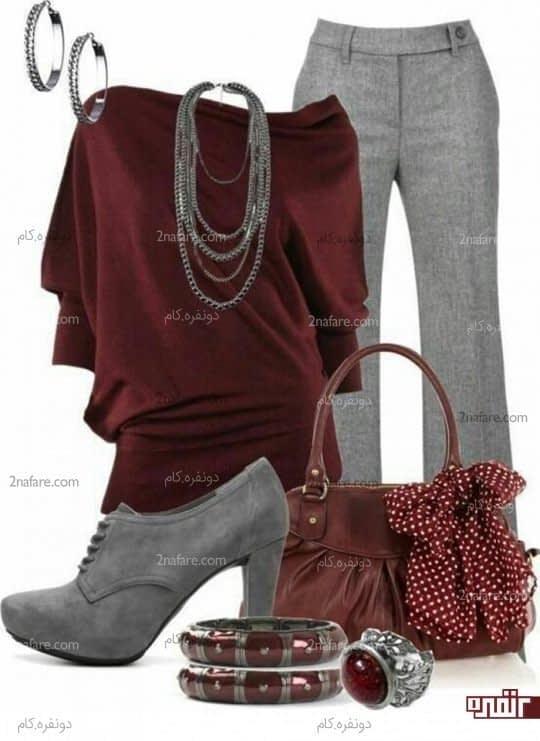 خاکستری و قرمز