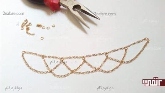 رد کردن زنجیر از حلقه های دیگر