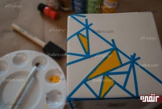رنگ آمیزی بین چسب ها