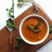 سس گوجه فرنگی با طعم سیر و فلفل