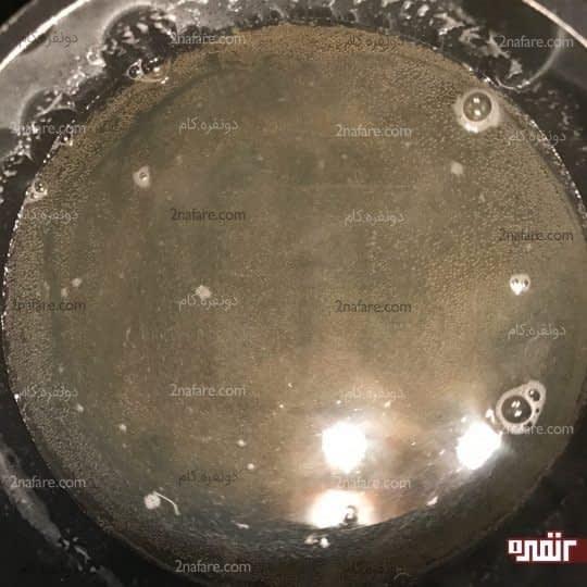 شفاف شدن مخلوط ژلاتین