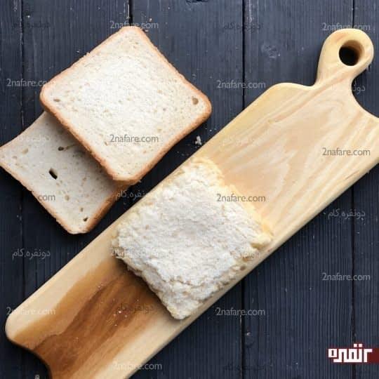 فشردن دو لایه نان روی هم
