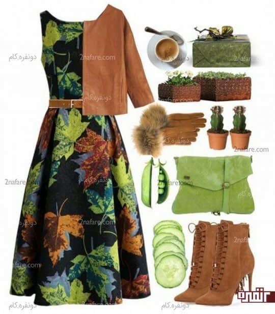 قهوه ای سبز