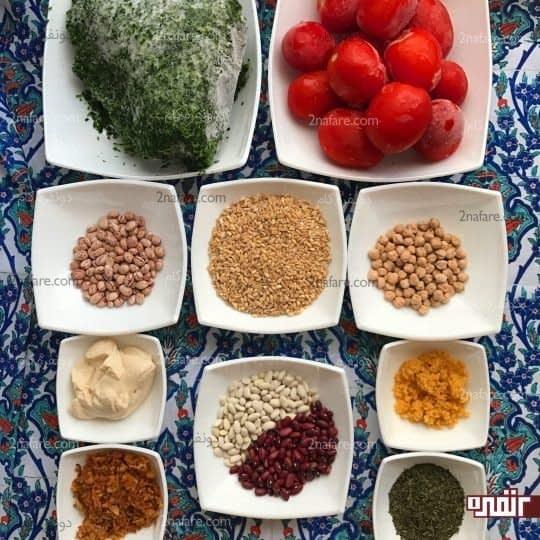 مواد لازم برای تهیه آش گوجه فرنگی